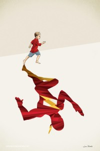 Children-Cast-Superhero-Shadows-In-These-Awesome-Posters-3