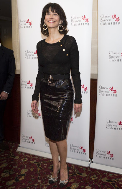 Sophie Marceau attending a photocall for Chinese Business Club lunch held at Intercontinental Hotel in Paris, France March 08, 2016. France. Paris. 08/03/2016Sophie Marceau (actrice) au déjeuner du Chinese Business Club à l'Hotel Intercontinental Opéra.