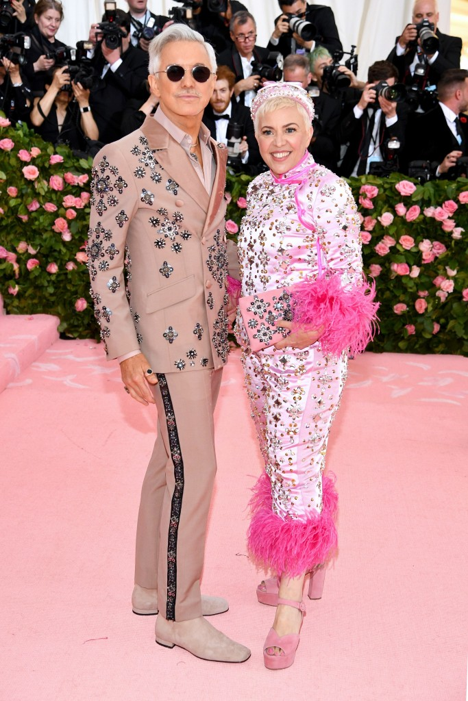 Baz Luhrmann in Prada and Catherine Martin in Prada